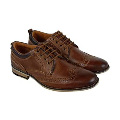 4d200158753 Amazon.com | Steve Madden P-Kayak Mens Brown Leather Casual Dress ...