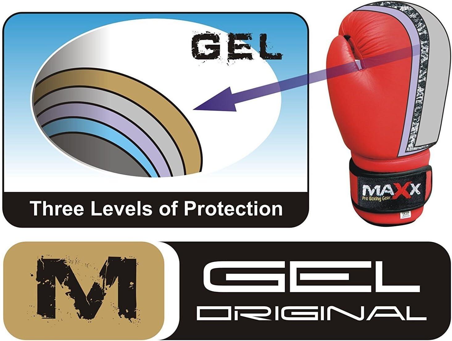 Maxx Guantes de boxeo de piel para adultos, diseño de bandera de Reino Unido, 283,5 - 453,6 gr: Amazon.es: Deportes y aire libre