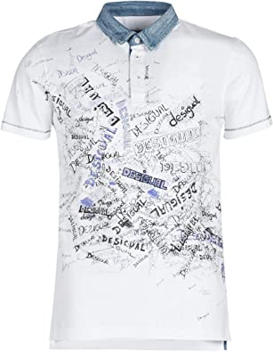 Desigual - Polo Gabriel Hombre Color: 1000 Talla: Size S: Amazon ...