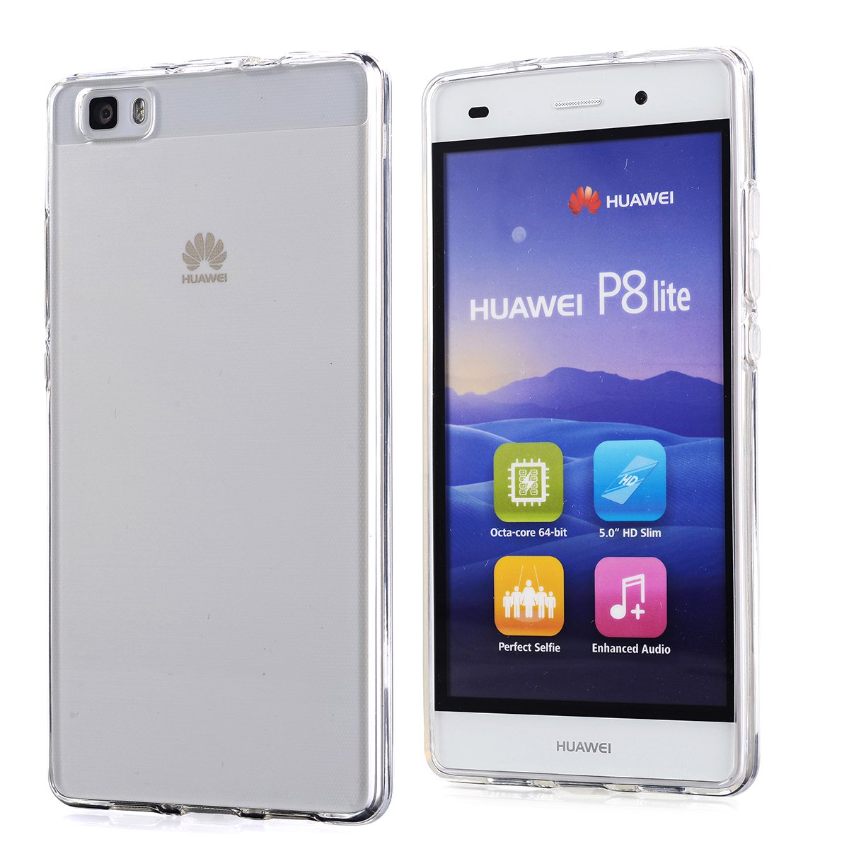 Amazon.com: Huawei P8 Lite Case, Arbalest [Clear Resistance ...