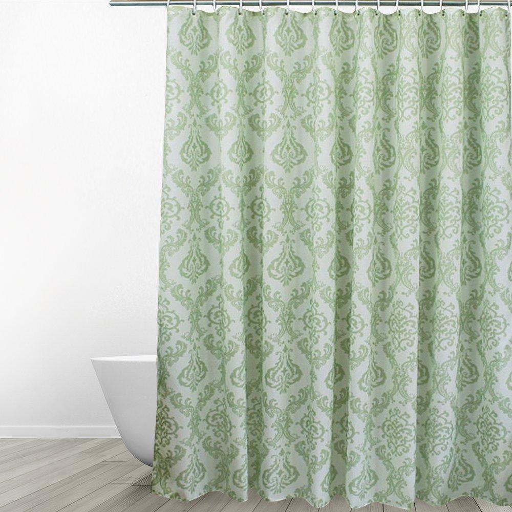 Eforgift Water Repellent Shower Curtain Mildew Resistant Anti Wrinkle  Machine Washable Floral Bathroom Curtain Design Damask Paisley Print, ...