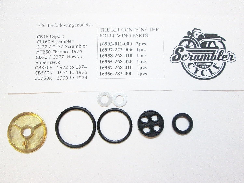 Petcock Rebuild Kit for Honda CB77 CL77 CB750 CB160 CB500 CB350F MT250