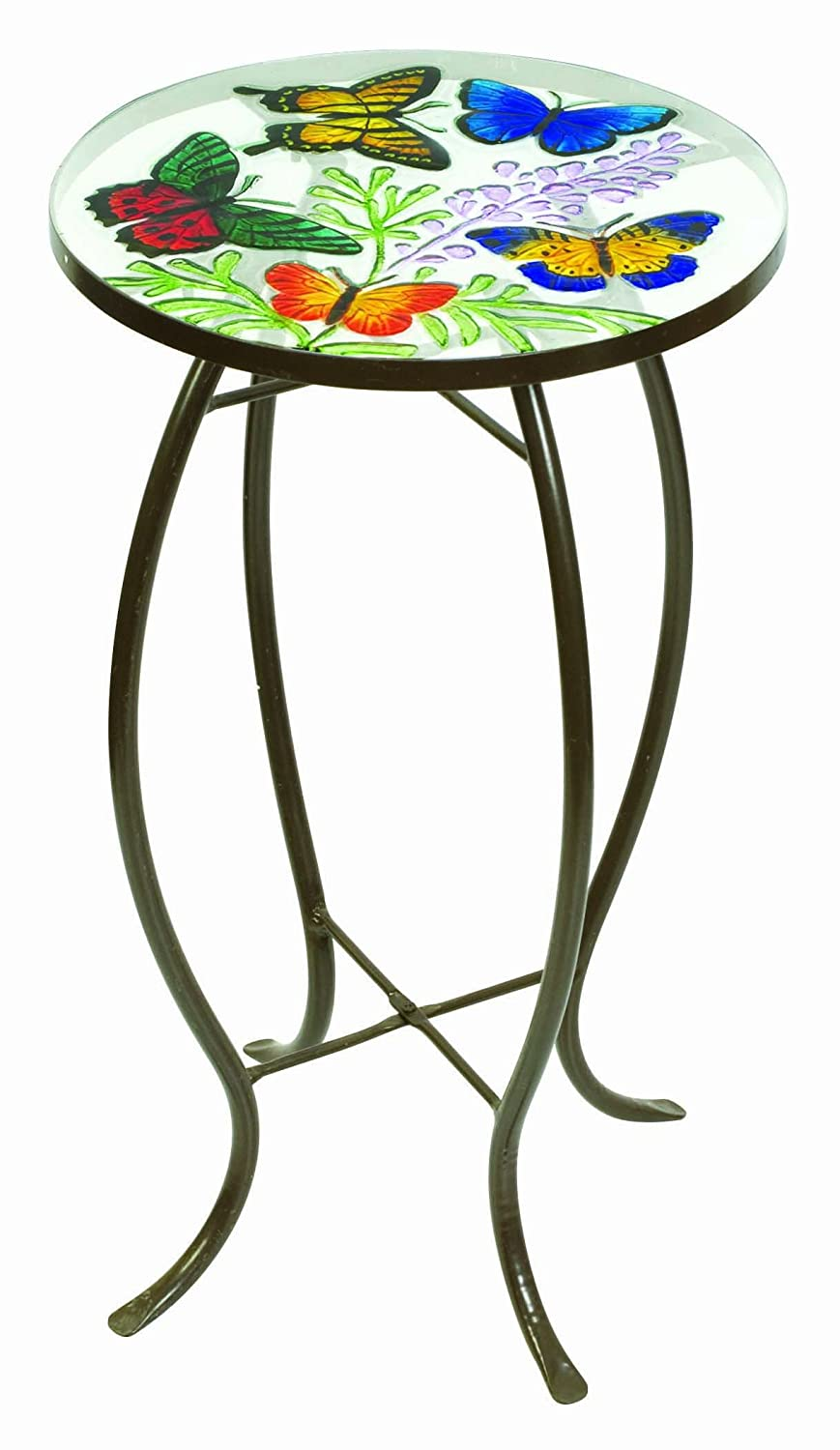 Charmant Evergreen Enterprises 2GM224 Butterflies Round Glass Top Side Table:  Amazon.ca: Patio, Lawn U0026 Garden