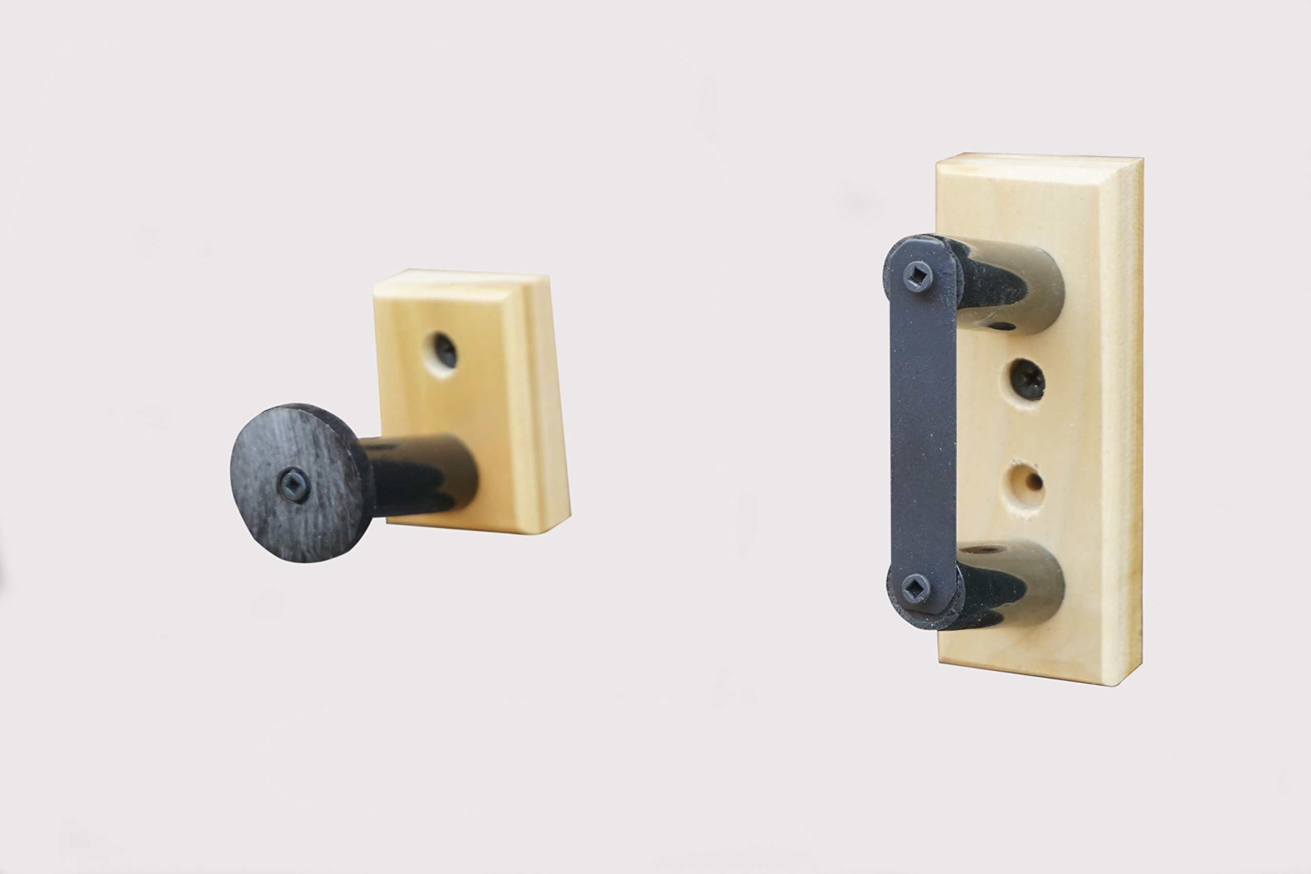 Standard Horizontal Wall Mount For a Shot Gun Rifle With A Security Bracket (Made in the USA) (Poplar)