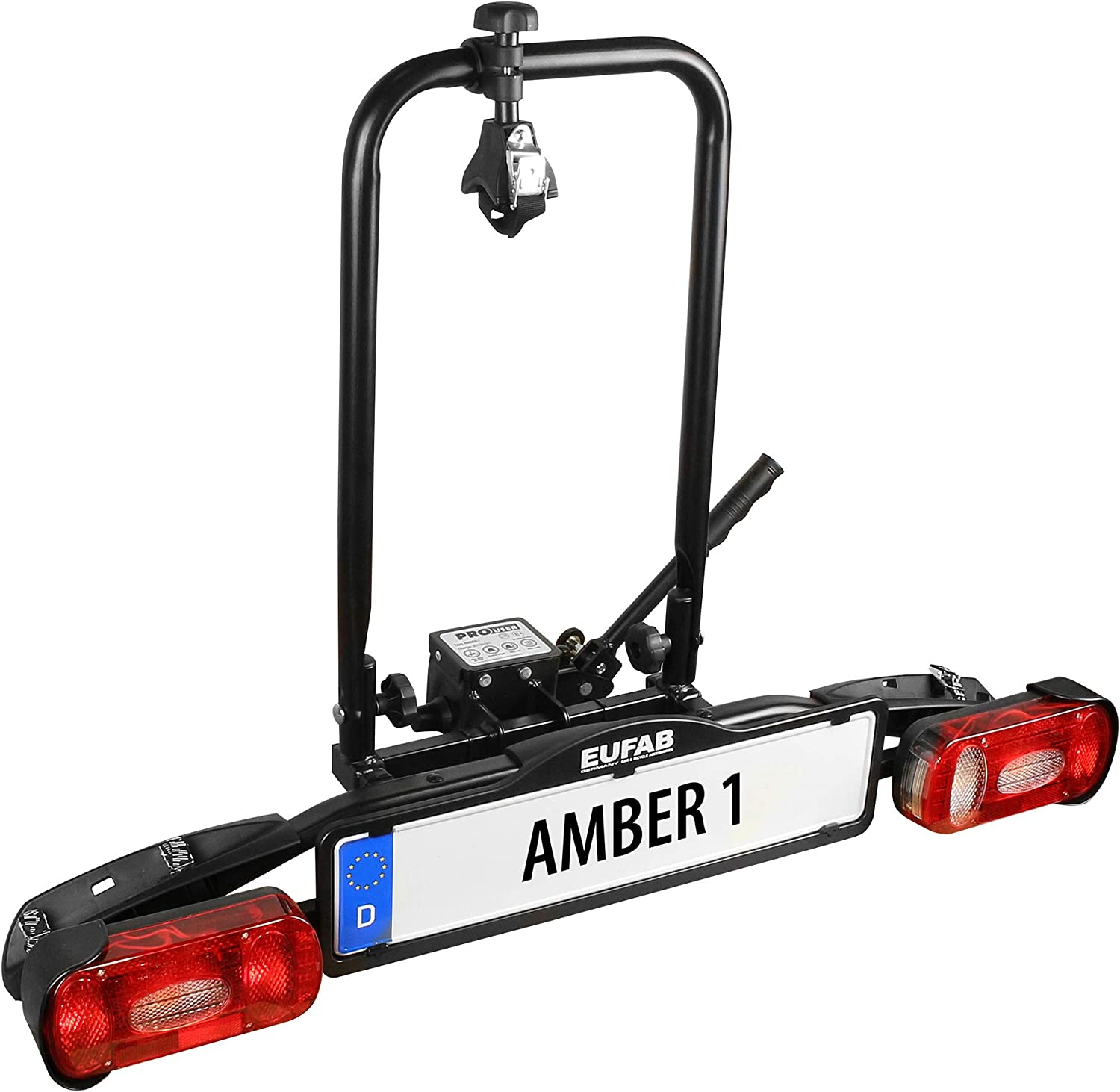 EUFAB 11559 Amber 1 Bicycle Carrier Suitable for E-Bikes