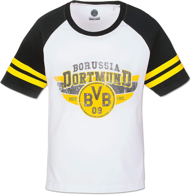 Borussia Dortmund BVB 09 - Camiseta Infantil, Blanco/Negro, 164 ...