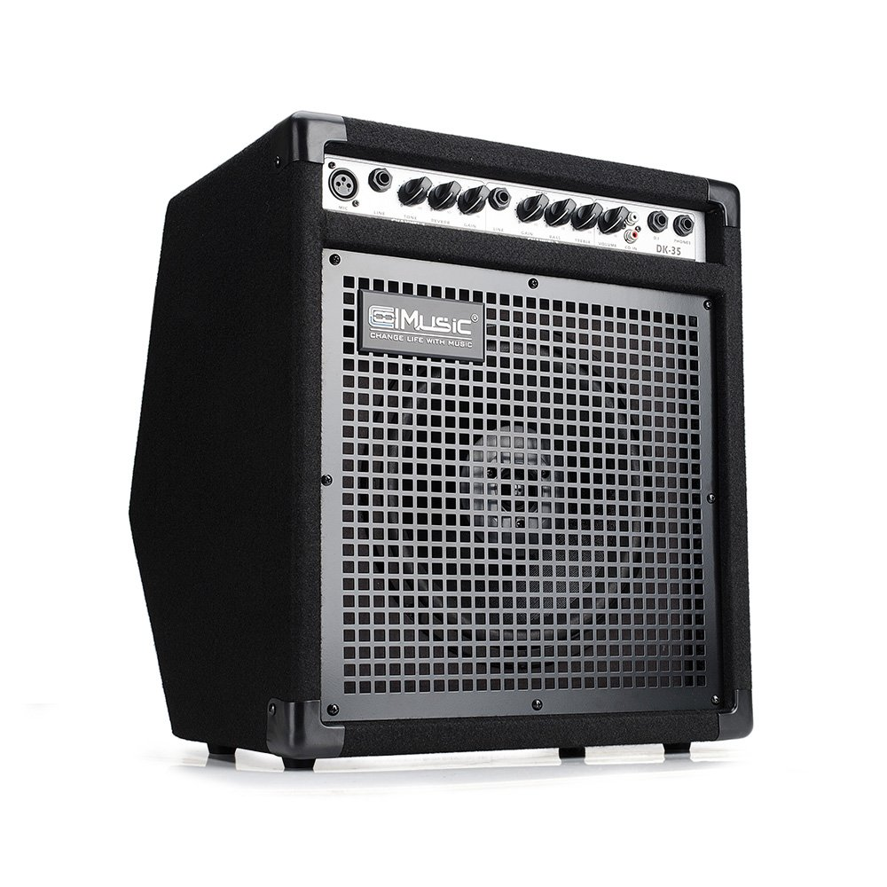 Coolmusic DK-35 35watts Personal Monitor Amplifier Electric Drum Amplifier PA Workstation Keyboard Speaker and Acoustic Guitar Amplifier by Coolmusic