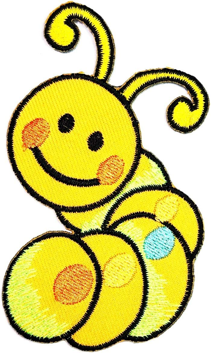 Cartoon yellow embroidery patch children/'s patch DIY embroidery clothing patch