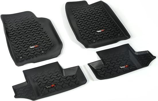 Floor Mat Liners Kit for Jeep Wrangler JK 2007-2018 4 Door Gray Rugged Ridge