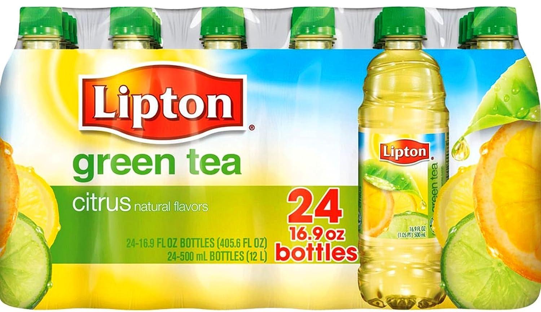 Lipton Tea 20oz Bottle For Sale: Lipton Green Tea Citrus Caffeine