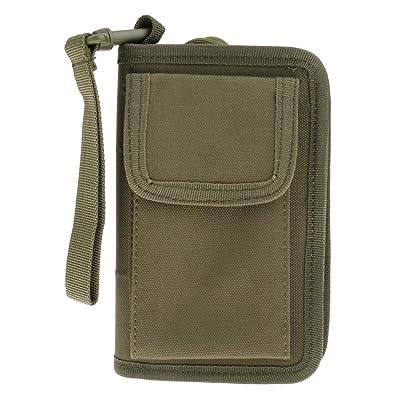 20-35L Extérieur Tactique Militaire Portefeuille Porte-cartes Sacoche Pochette de Téléphone Portable Pour Camping Randonnée - armée verte, 17 * 10.5cm / 6.7 * 4.15inch