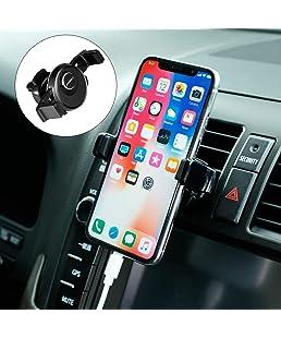 POMILE Support Téléphone Voiture Universel Ventilation Support avec Rotation 360° pour iPhone X 8 7 6s 6 Plus,Samsung S8 S7, LG, Smartphone et GPS Appareils