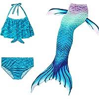 AAP Kid Girls Mermaid Tail Swimsuit Bikini Set 3 Piece Suit Swimwear Princess Cosplay Swimming Mermaid Costumes