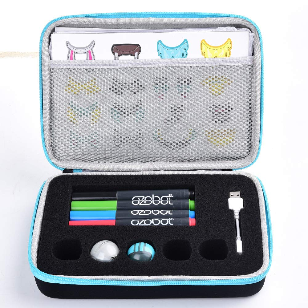 Wellgain Case Compatible for EVO App-Connected Ozobot Bit Coding Robot - Fits USB Charging Cable/Playfield/Skin / 4 Color Code Markers (Fits a Full Robotics kit) by Wellgain (Image #2)