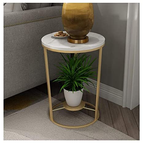 Terrific Lhome 2 Tier End Table With Marble Shelves Metal Frame Forskolin Free Trial Chair Design Images Forskolin Free Trialorg