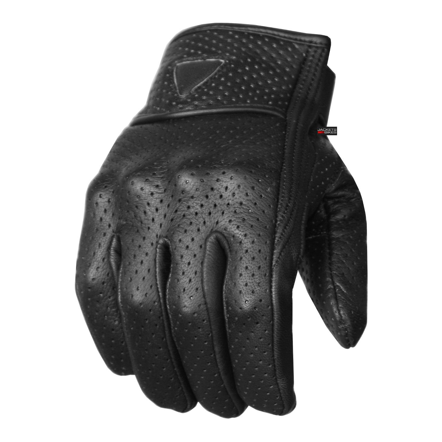 Premium Men's Motorcycle Leather Perforated Cruiser Protective Gel Padded Gloves XXL