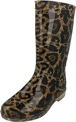 Spot On Bottes de pluie motif léopard Femme