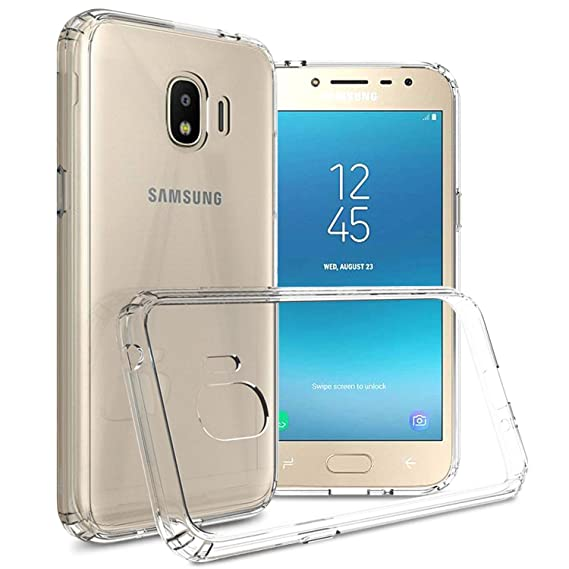 outlet store 20516 7681f Galaxy J2 Pro 2018 Case, Galaxy Grand Prime Pro Case, CoverON ClearGuard  Series Hard Slim Fit Phone Cover with Clear Back and Flexible TPU Bumpers  for ...