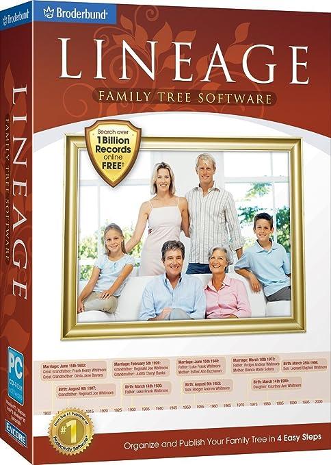amazon com lineage family tree software