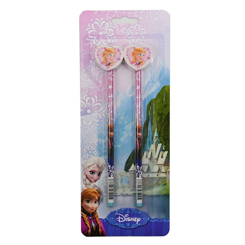 Disney Frozen Official Pencil & Rubber Topper Set (Pack Of 2)