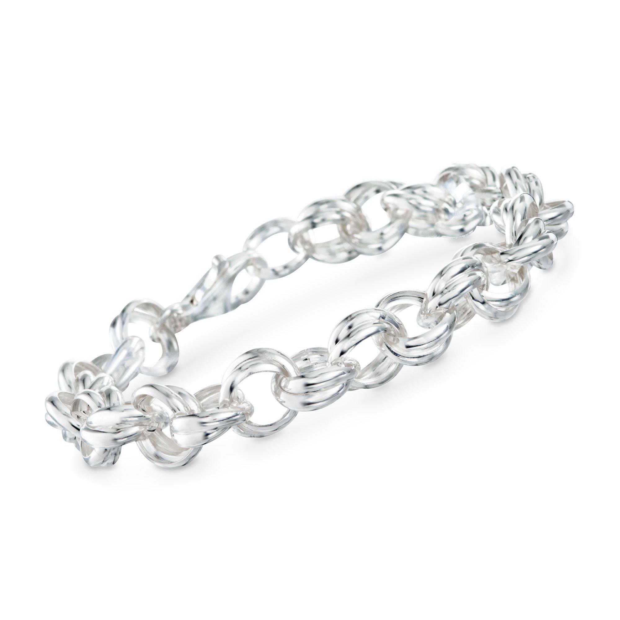 Ross-Simons Italian Sterling Silver Rolo Link Chain Bracelet