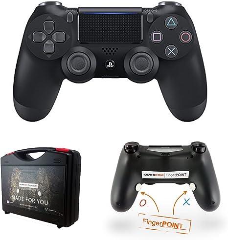 Kewecom - Mando a Distancia para Playstation 4 FingerPOINT Ps4 Scuf, Color Negro Mate: Amazon.es: Electrónica