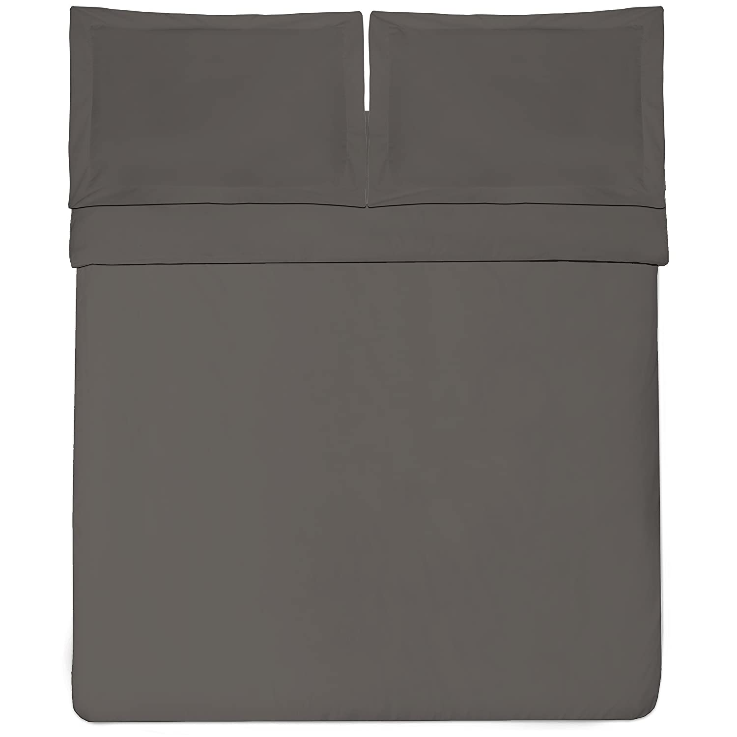Sweet Home Collection 1500 Series Egyptian Quality 3-Piece Duvet Cover Set, King/California King, Gray