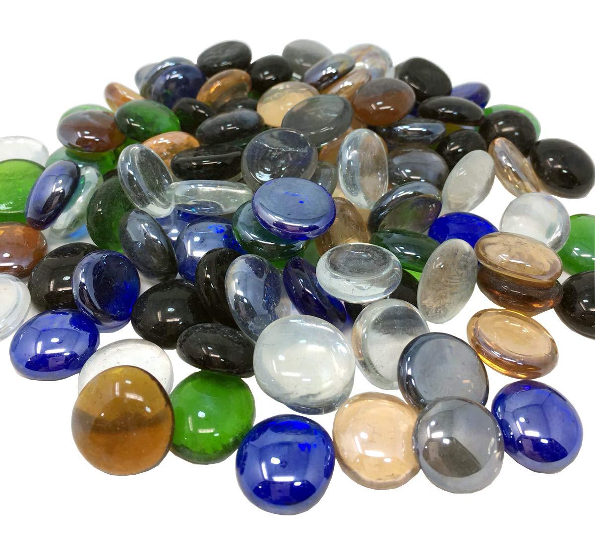 1/kg 200/pcs Galets de verre pour aquarium et de d/écoration de m/élange Colo