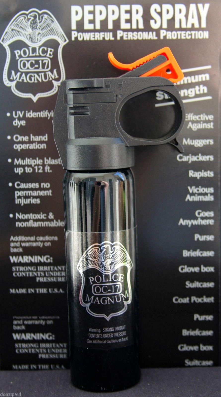 Police Magnum Mace Pepper Spray 4 Oz Fire Master Unit
