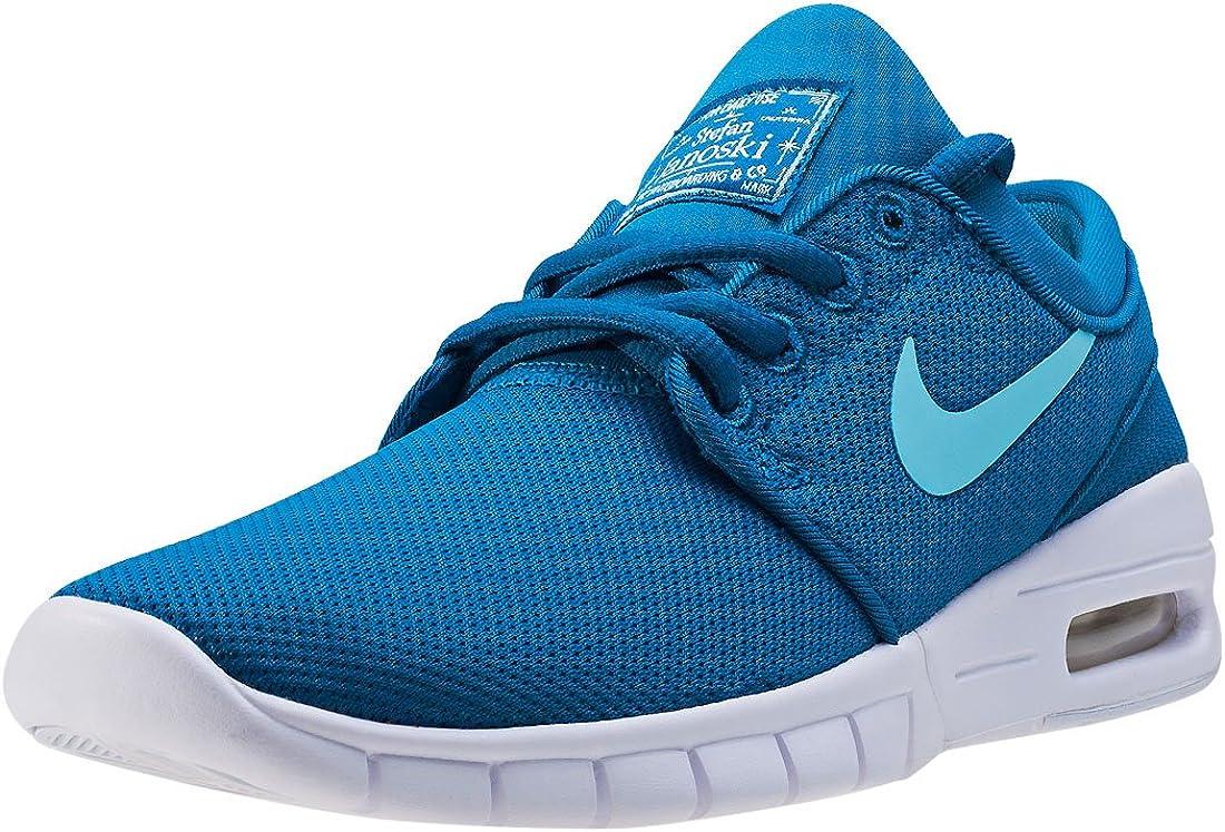 trabajo Insignia tono  Amazon.com | Nike Air SB Stefan Janoski Max (GS) Sneaker blue/white |  Running