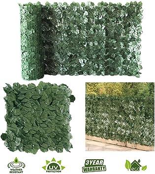 Petgrow - Valla de Hiedra Artificial para privacidad, Hojas de follaje Artificial, privacidad al Aire Libre, Valla de hiedro, Decoraciones para Valla de jardín: Amazon.es: Juguetes y juegos
