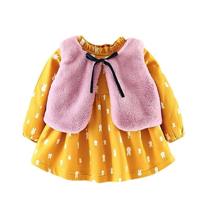 Amazon.com: Vestido de princesa con dibujos animados para ...