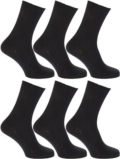 12 Pares Hombre Bigfoot 100% Calcetines De Algodón negro talla -11-14: Amazon.es: Ropa y accesorios