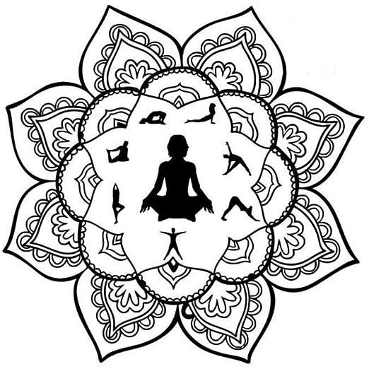 Aisufen Yoga Mandala Indio Mehndi Buda Oum Om Símbolo De La ...