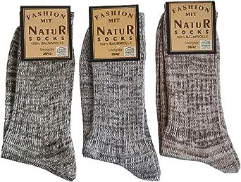6 pares de calcetines vaqueros para hombre, 100% algodón, sin costuras, color natural: Amazon.es: Ropa y accesorios