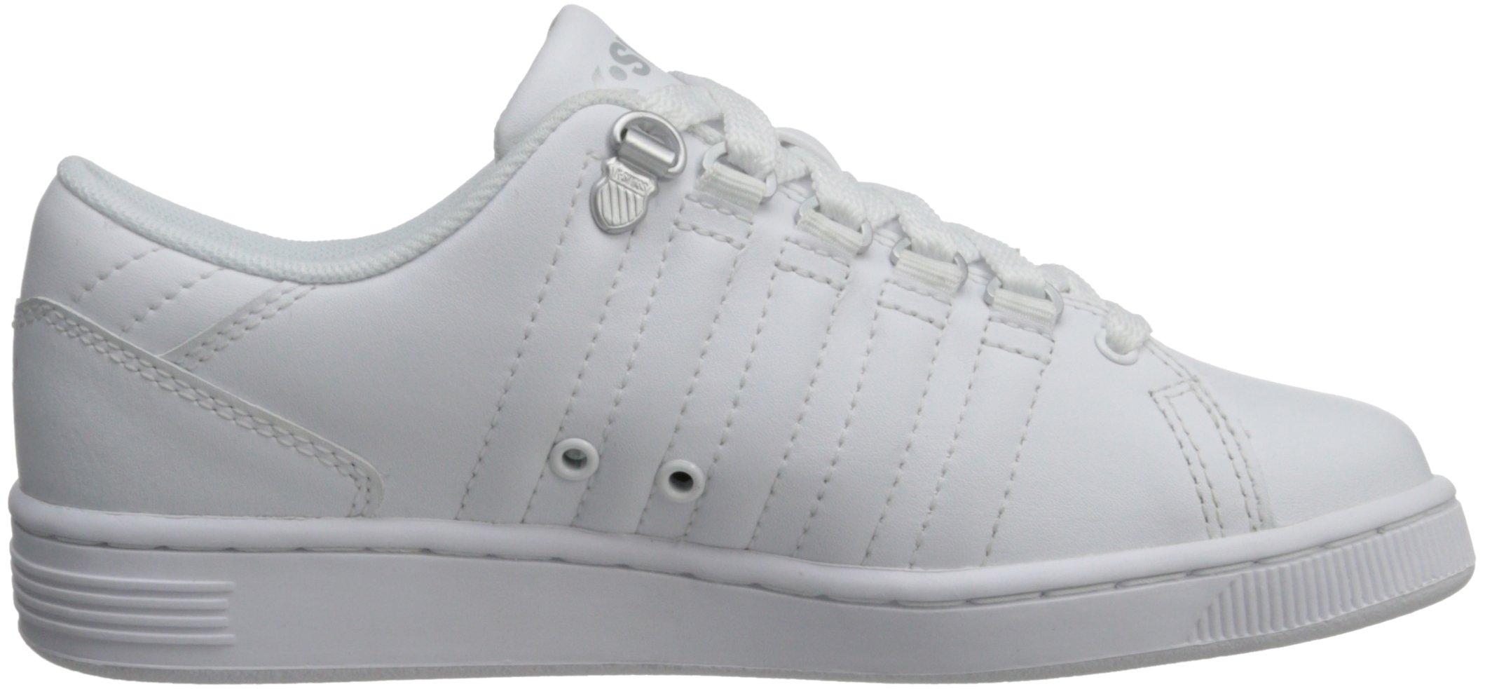K-Swiss 8110 Lozan Sneaker (Big Kid),White/White/Silver,3.5 M US Big Kid by K-Swiss (Image #7)