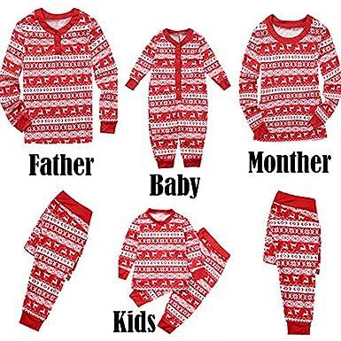 0fc4e66bca Family Christmas Pajamas Newborn Baby Kids Mom Dad Pajamas Set Family Sleepwear  Nightwear Matching Clothes: Amazon.co.uk: Clothing