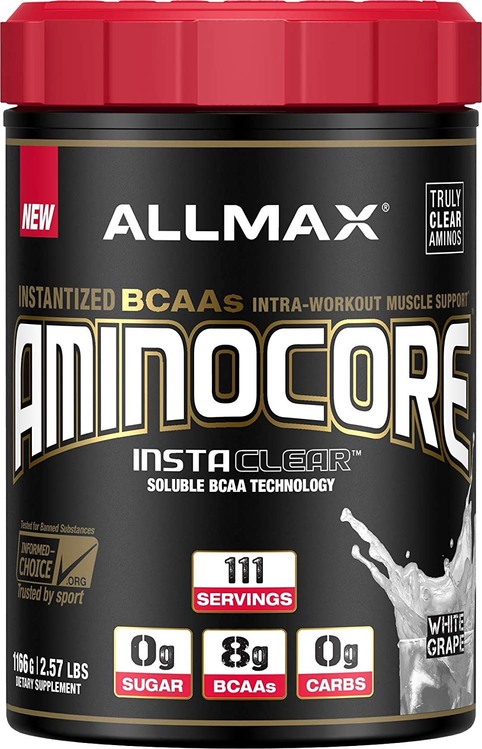ALLMAX Nutrition Aminocore BCAAs, White Grape, 1166 g