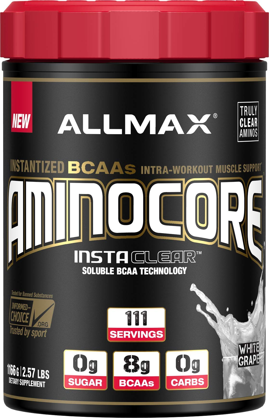 ALLMAX Nutrition Aminocore BCAAs, White Grape, 1166 g