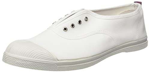811fc1d770eee Bensimon Women s TENNIS ELLY WHITY Low Trainers, White (Violet), 3.5  (Manufacturer