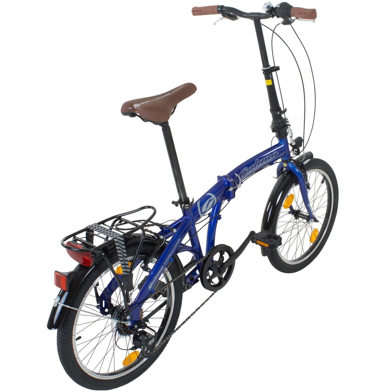 Viking Park Lane camping bicicleta plegable 6 velocidades Shimano Luz Iluminación de bicicleta plegable Blanco blanco: Amazon.es: Deportes y aire libre