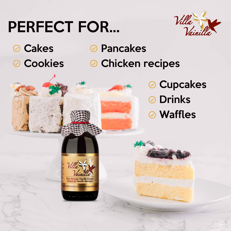 Villa Vainilla pure vanilla extract (8.4 fl.oz.) - Made with Premium, Hand-Picked Vanilla Beans - genuine and Natural Gourmet Flavor from Mexico - Kosher, vegan, GF by Villa Vainilla (Image #6)