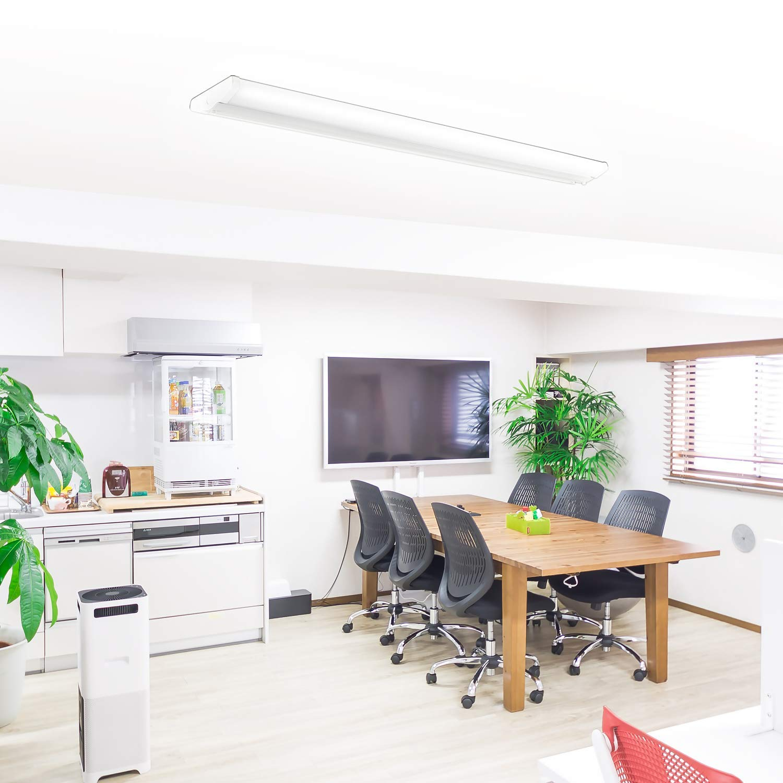 AntLux 4FT LED Wraparound Light Fixture 50W Ultra Slim LED Shop Lights for Garage, 5500 Lumens, 4000K Neutral White, 4 Foot Flush Mount Office Ceiling LED Wrap Light for Workshop Kitchen, 8 Pack by ANTLUX (Image #6)