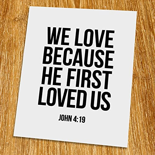 Amazon com: John 4: 19 We love because he first loved us