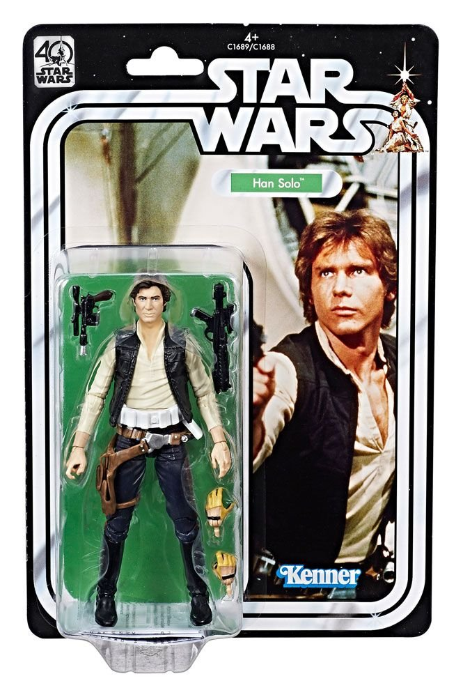 STAR WARS 40th Anniversary Authentic Looking Action Figur HAN SOLO