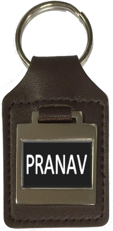 Leather Keyring Birthday Name Optional Engraving Pranav