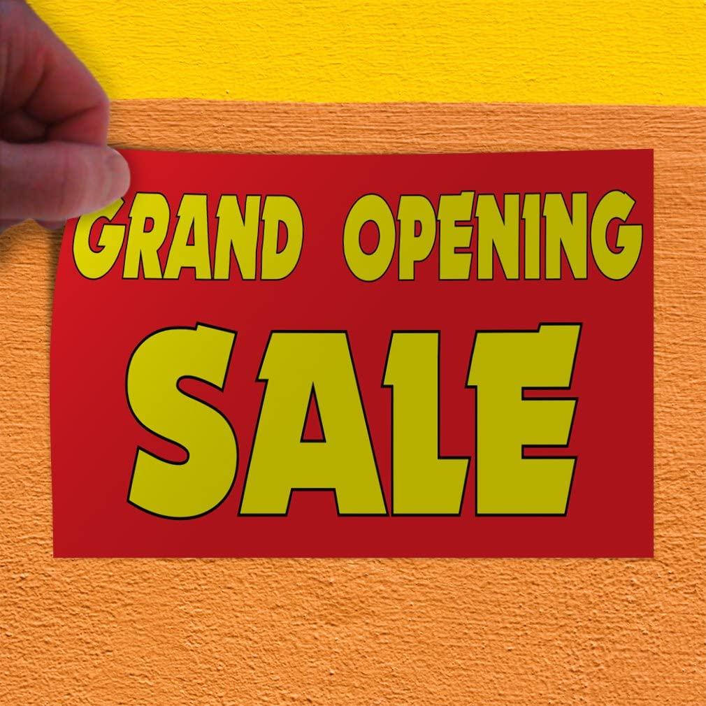 Set of 5 Decal Sticker Multiple Sizes Grand Opening Sale #1 Business Grand Opening Outdoor Store Sign Yellow 48inx32in