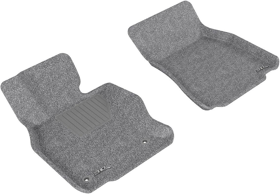 Black 3D MAXpider Front Row Custom Fit Floor Mat for Select Lexus LS600HL Models Classic Carpet