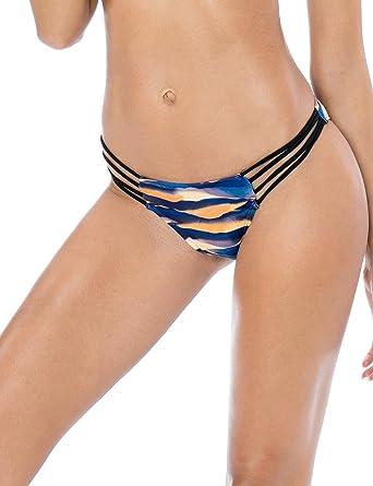 288d0fcb8396f Amazon.com  RELLECIGA Women s Strappy Bikini Bottom  Clothing