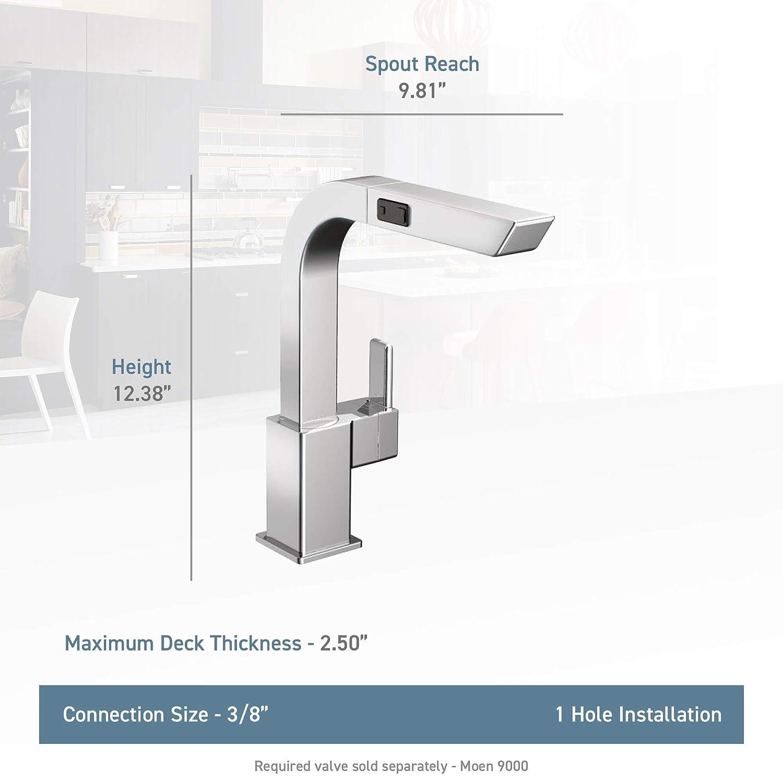 Moen S7597C 90-Degree One-Handle High-Arc Pullout Kitchen Faucet, Chrome
